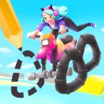 落書きがゲームに!タイヤをデザインしてレースで爆走「落書きライダー! scribble rider」アプリ紹介/プレイ動画