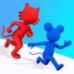 最後まで生き残れ!捕まらないように逃げ回る「ネコとネズミ Cat and Mouse.io」アプリ紹介/プレイ動画
